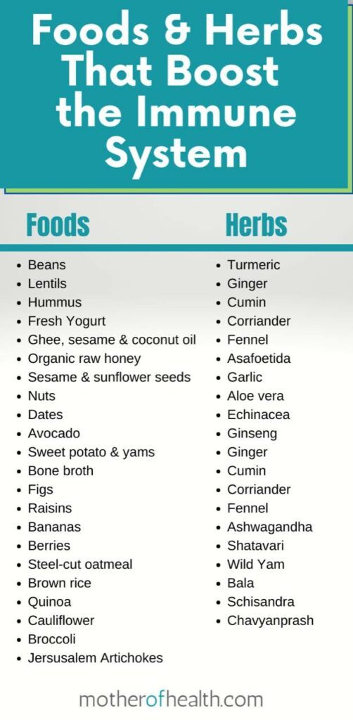 foods and herbs that boost the immune system
