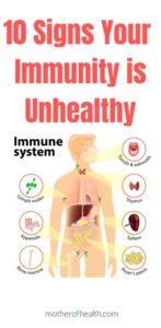 low immune system symptoms