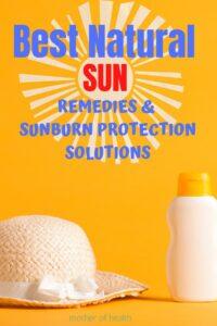 best natural sun remedies