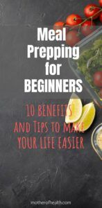 meal prepping for beginners
