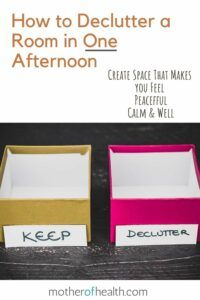 how to declutter a room