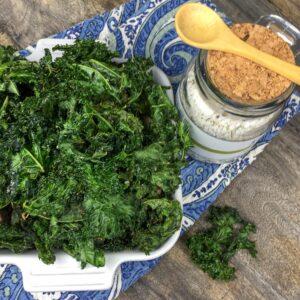 crispy oven baked kale chips