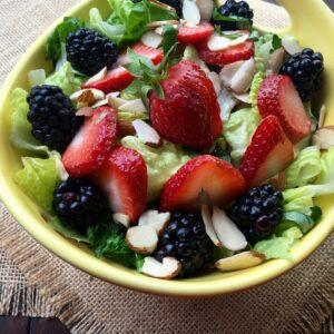 Refreshing Mixed Berry Salad with Raspberry Vinaigrette