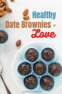 healthy date brownies