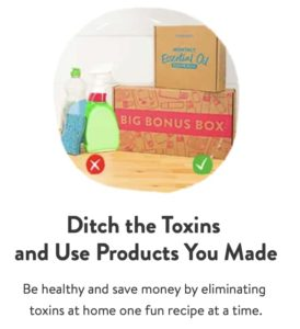 simply earth essential oil recipe box for May 2021