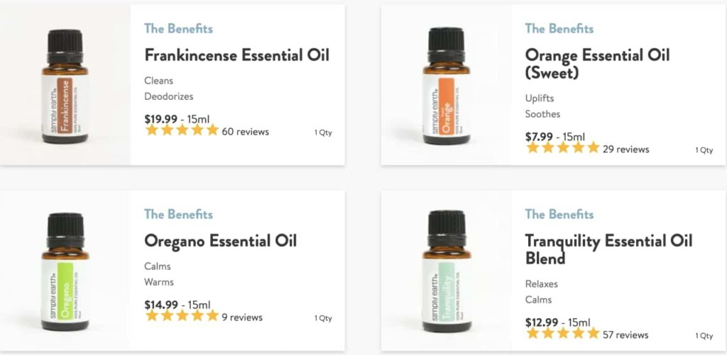 simply earth essential oils recipe box May 2021