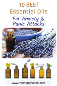 Pinterest Pin for best essential oils for anxiety and panic attacks