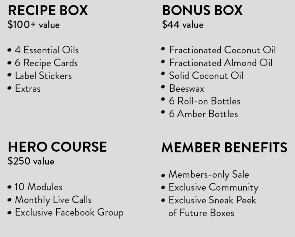 simply earth essential oil recipe box for july 2021