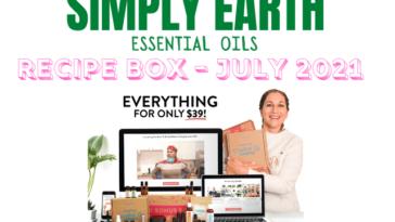 simply earth essential oil recipe box july 2021