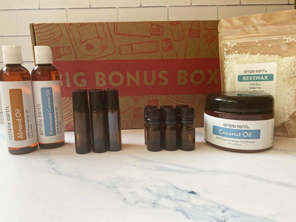 simply earth essential oil recipe box august 2021